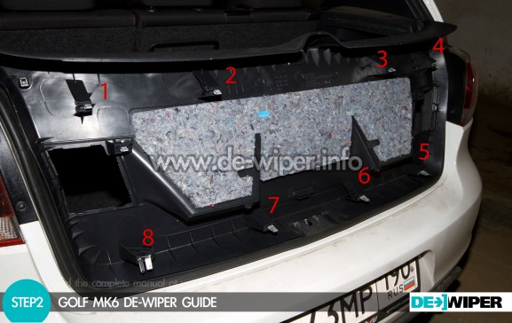 Where are the trunk cover clamps (inside view)